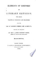 Elements of Rhetoric and Literary Criticism