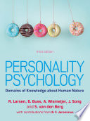 EBOOK  Personality Psychology  Domains of Knowledge about Human Nature