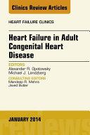 Heart Failure in Adult Congenital Heart Disease  An Issue of Heart Failure Clinics