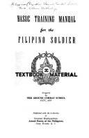 Basic Training Manual for the Filipino Soldier