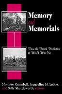 Memory and Memorials