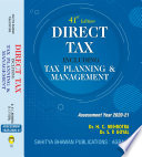 Direct Tax including Tax Planning   Management AY 2020 21