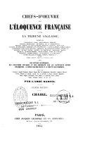Chefs-d'oeuvre de l'éloquence française et de la Tribune anglaise
