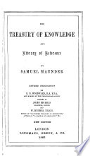 The Treasury of Knowledge and Library of Reference Book PDF