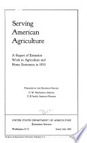 Report of Extension Work in Agriculture and Home Economics in the United States