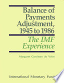 Balance Of Payments Adjustment 1945 To 1986
