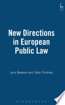 New Directions in European Public Law Book