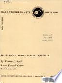 Ball Lightning Characteristics
