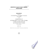 Detection of Englanf Lead in the Dc Drinking Water System Book