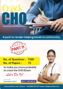 Pdf CHO (Community Health Officer) - Part 11 | 75 Paper Sets | 7500 Questions & Answers