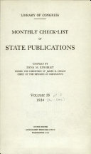 Monthly Check List Of State Publications
