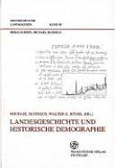 Landesgeschichte und historische Demographie