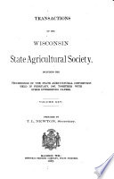 Transactions of the Wisconsin State Agricultural Society Book PDF