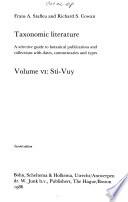 Taxonomic Literature