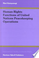 Human Rights Functions of United Nations Peacekeeping Operations