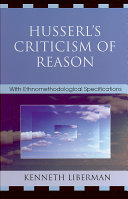 Husserl's Criticism of Reason