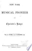 New York musical pioneer
