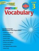 Vocabulary, Grade 3