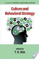 Culture and Behavioral Strategy