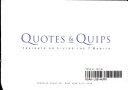 Quotes   Quips