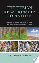 The Human Relationship to Nature