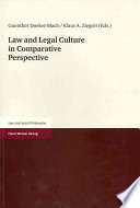 Law and Legal Culture in Comparative Perspective