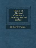 Poems of Richard Crashaw   Primary Source Edition
