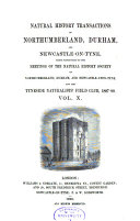 Transactions of the Natural History Society of Northumberland  Durham  and Newcastle upon Tyne