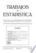 Trabajos de Estadística Y de Investigacion Operativa