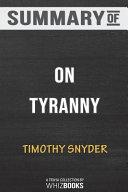 Summary of On Tyranny