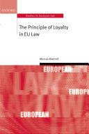The Principle of Loyalty in EU Law