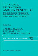 Discourse, Interaction and Communication ebook