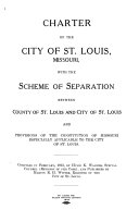 Charter Of The City Of St Louis Missouri