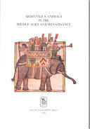 Aristotle's Animals in the Middle Ages and Renaissance