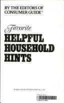 Favorite Helpful Household Hints