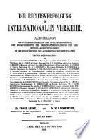 Rechtsverfolgung im internationalen Verkehr