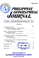 Philippine Geographical Journal