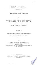 Introductory Lecture on the Law of Property and Conveyancing