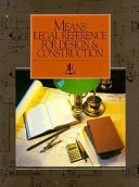 Means Legal Reference for Design   Construction