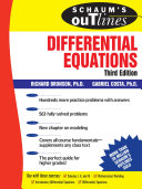 Schaum's Outline of Differential Equations, 3rd edition