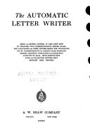 The AUTOMATIC Letter Writer