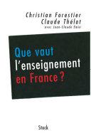 Pdf Que vaut l'enseignement en France ? Telecharger