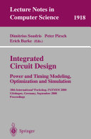 Pdf Integrated Circuit Design: Power and Timing Modeling, Optimization and Simulation