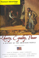 Cengage Advantage Books  Liberty  Equality  Power  A History of the American People  Compact