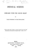 Physical science compared with the second beast or false prophet of the Revelation