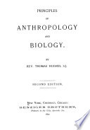 Principles of Anthropology and Biology