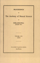 Proceedings of The Academy of Natural Sciences (Vol. CVII, 1955) Book
