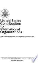 United States Contributions to International Organizations