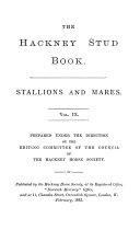 The Hackney Stud Book