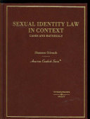 Sexual Identity Law In Context